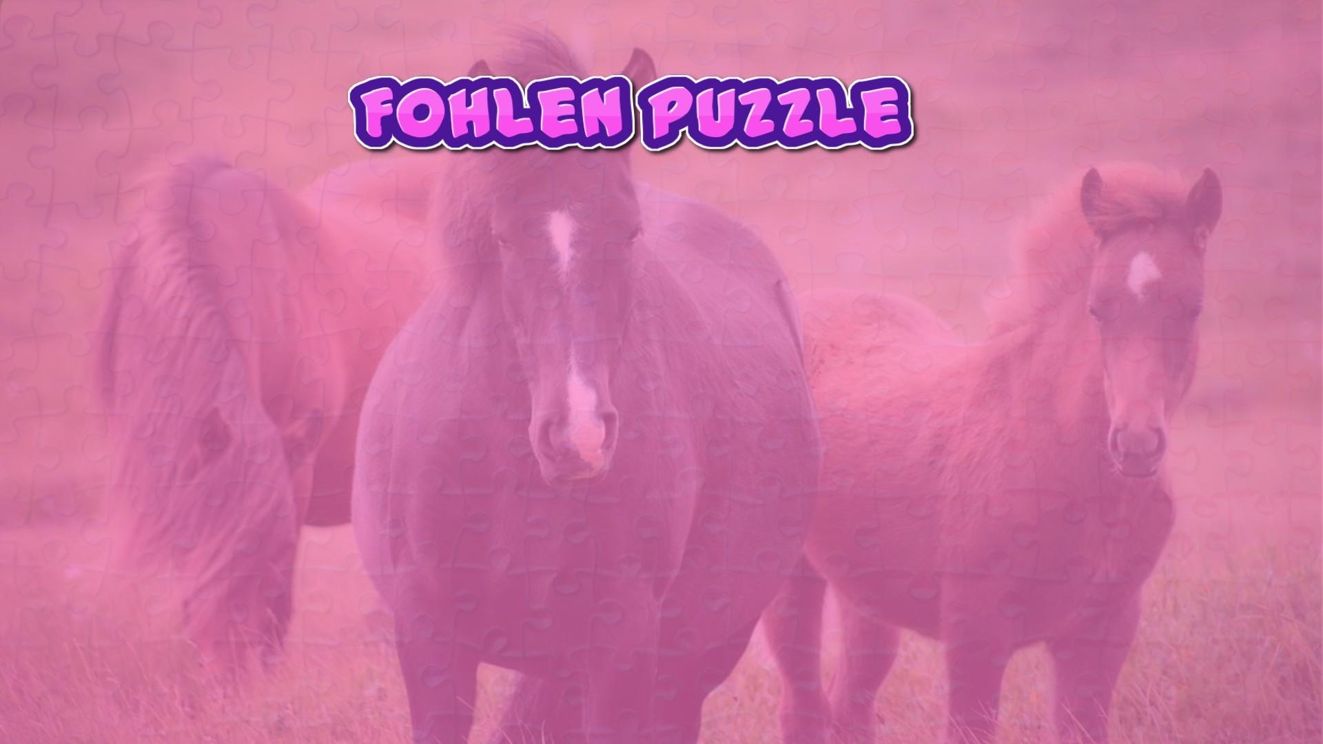 Image Fohlen Puzzle